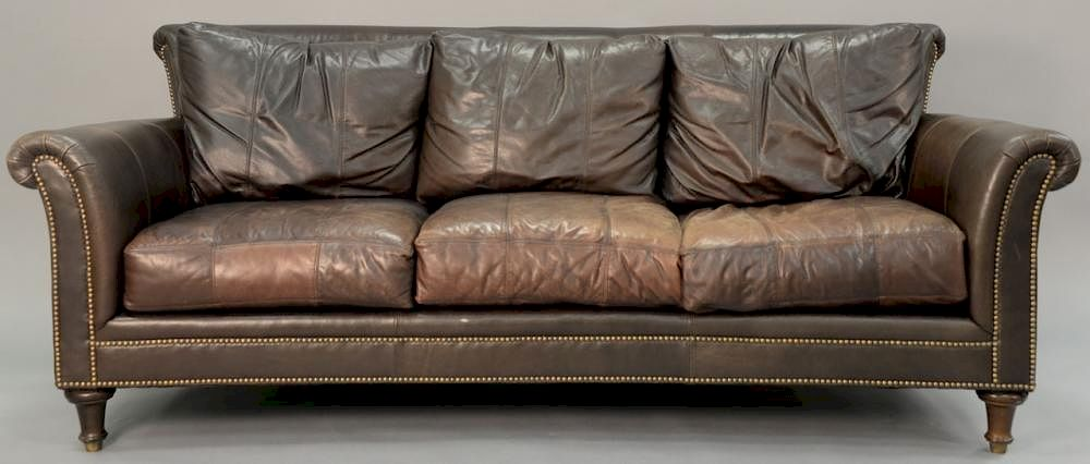 Ferguson Copeland Leather Sofa Wd 87 By Nadeau S Auction Gallery Bidsquare