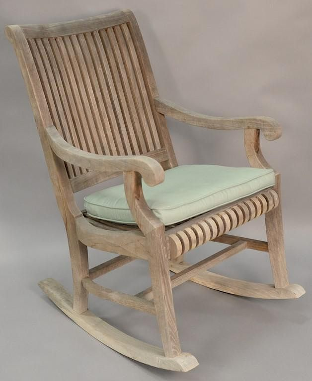 Smith U0026 Hawken Teak Rocking Chair. By Nadeauu0026#39;s Auction Gallery |  Bidsquare