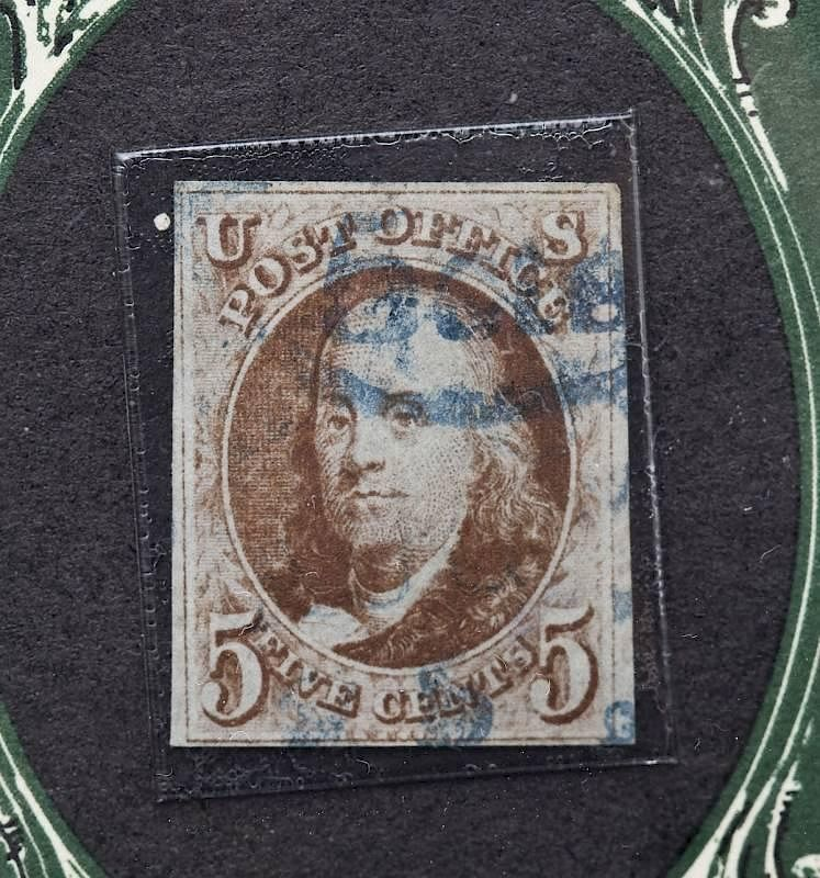1847 Benjamin Franklin 5 Cent Stamp By Cordier Auctions Appraisals