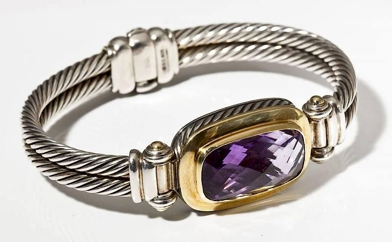 David Yurman 925 750 Amethyst Bracelet By Corr Auctions Raisals Bidsquare