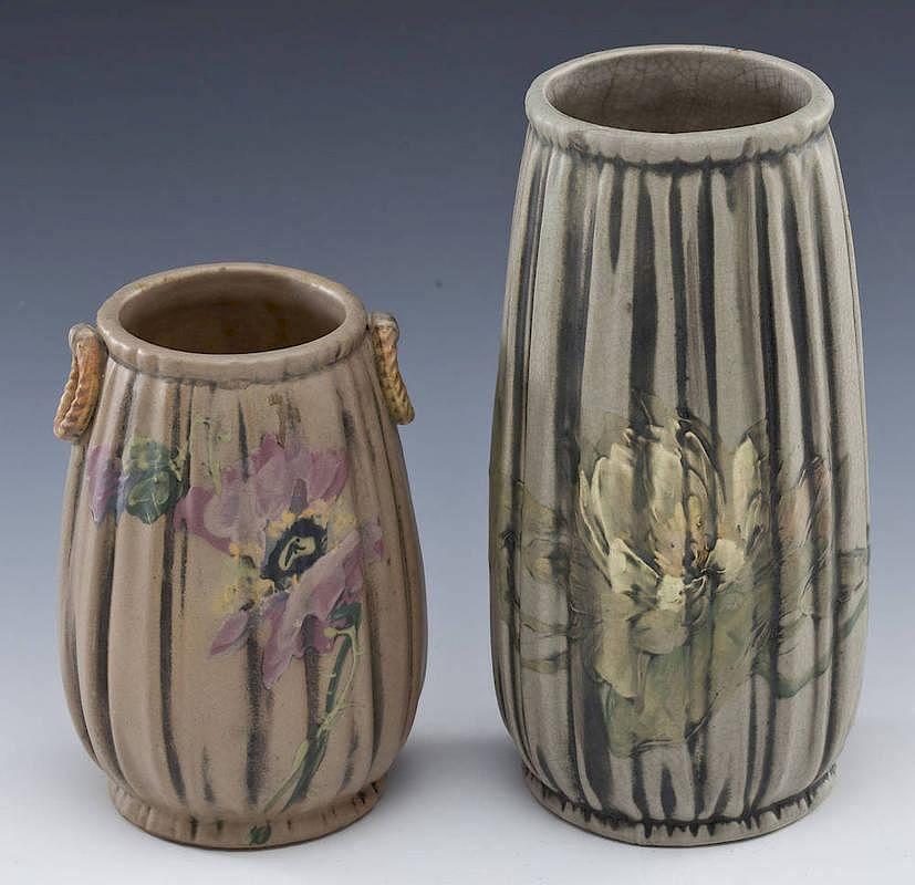 2 Weller Louella Vases By Cordier Auctions Appraisals Bidsquare