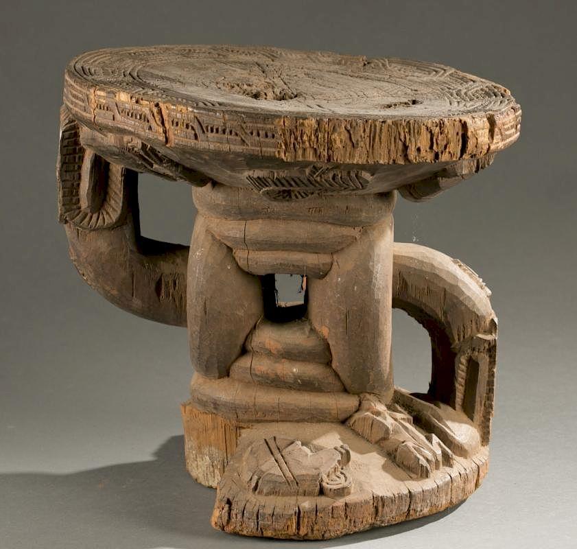 Swell Benin Wooden Stool 20Th Century By Quinns Auction Creativecarmelina Interior Chair Design Creativecarmelinacom