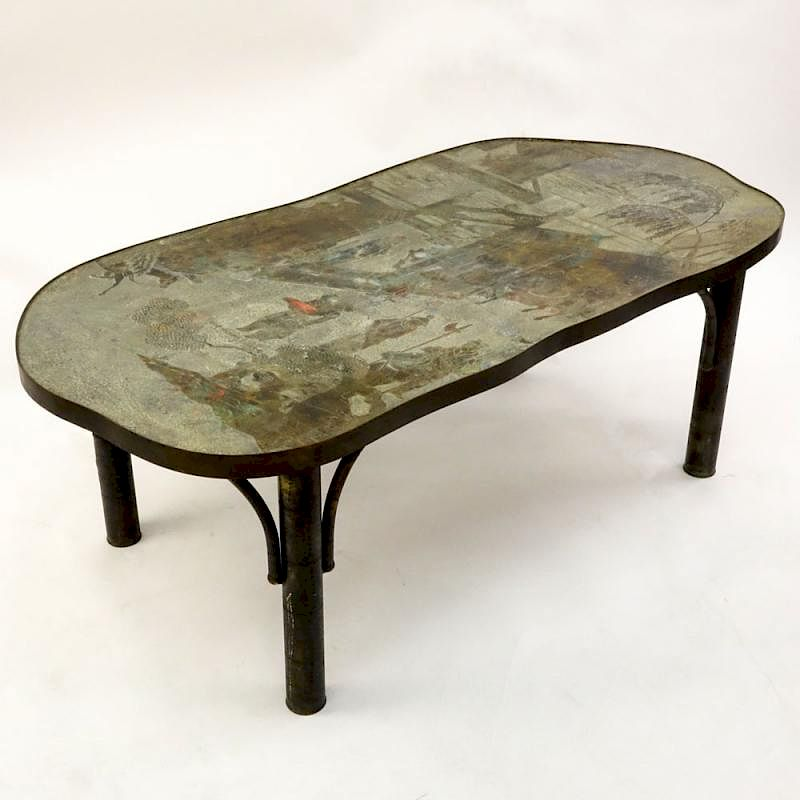 1965 Acid Etched And Patinated Br Over Pewter Wood Chinoiserie Style Coffee Table By Kodner Galleries Bidsquare