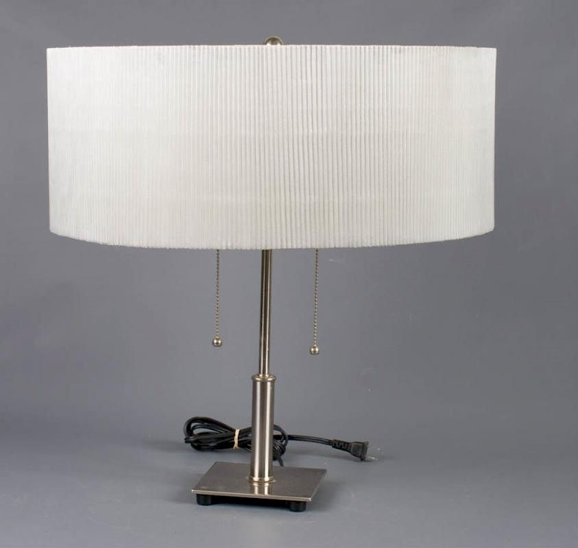 Chrome Table Lamp With Double Pull Chain By Bremo Auctions 620282