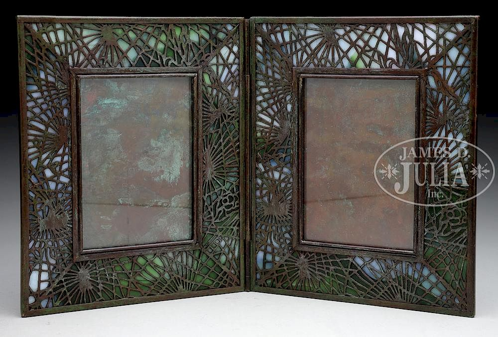Tiffany Studios Pine Needle Double Picture Frame By James D Julia