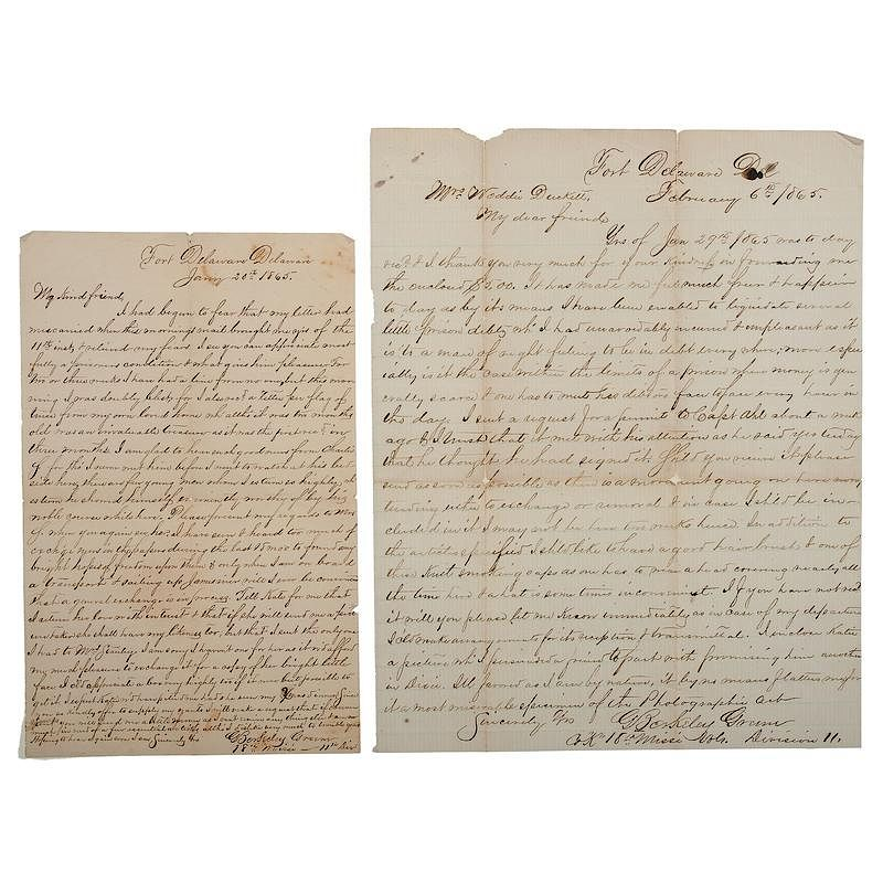fort delaware confederate pow berkeley greene 18th mississippi volunteers two letters from prison by cowans auctions inc bidsquare
