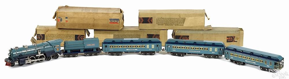 Lionel standard gauge Blue Comet nickel trim passenger train