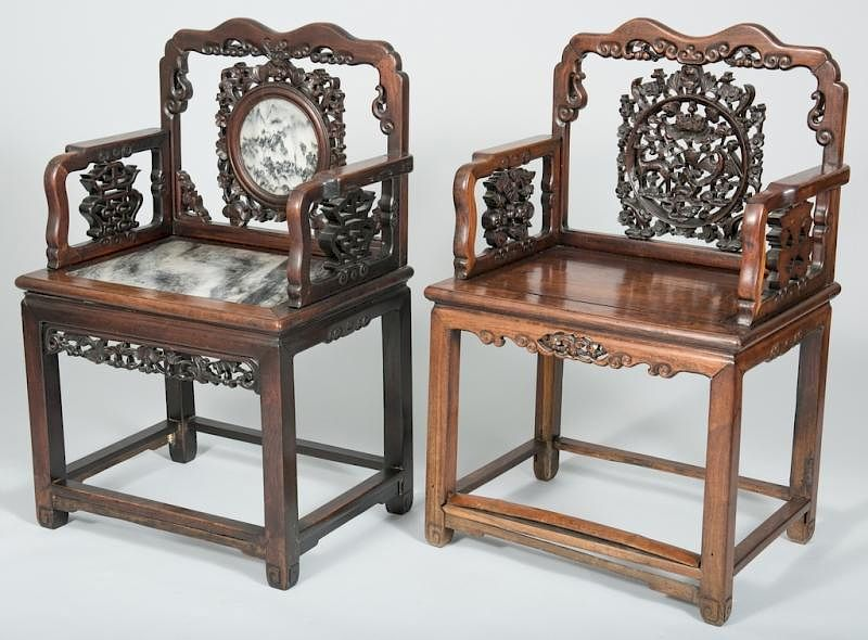 2 Chinese Carved Hardwood Chairs by Case Antiques, Inc. Auctions and  Appraisals | Bidsquare - 2 Chinese Carved Hardwood Chairs By Case Antiques, Inc. Auctions And