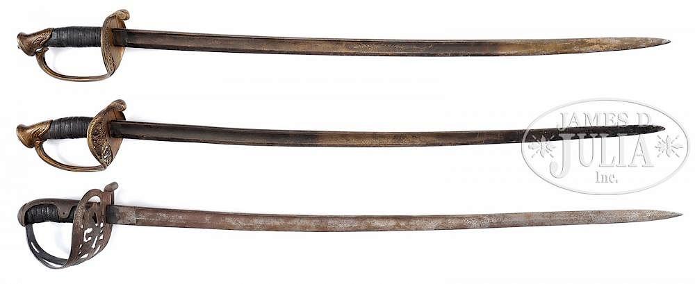 THREE CIVIL WAR SWORDS OF BREVET BRIG GENERAL CHARLES A R DIMON