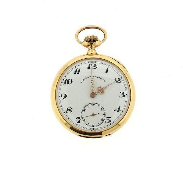 Patek Philippe Bailey Banks Amp Biddle 18k Gold Pocket Watch By Hampton Estate Auction 719211 Bidsquare