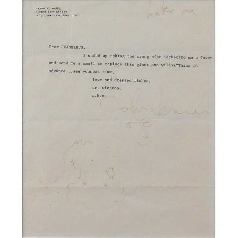 A Typed Letter From John Lennon On Personal Stationary With