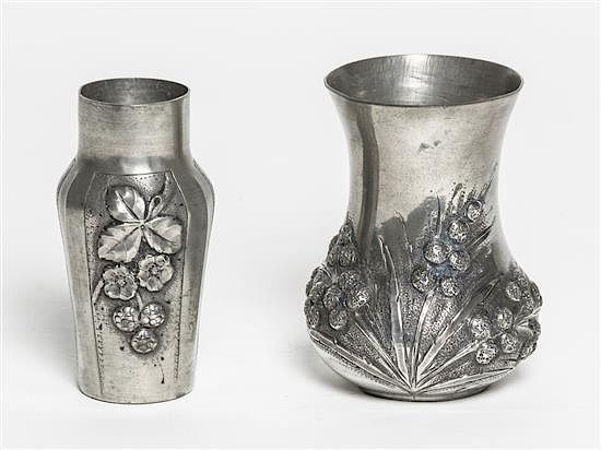 A French Art Deco Pewter Bud Vase The Design By Romain De Tirtoff