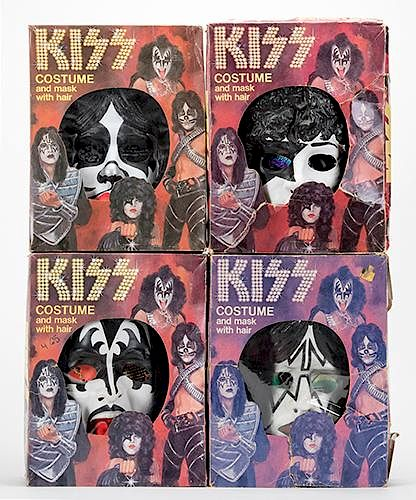 Vintage Halloween Costumes In A Box.Kiss Set Of Four Vintage Halloween Costumes And Masks By Potter