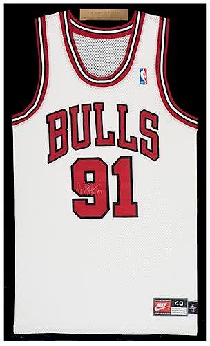 buy popular 96027 8eb9f Dennis Rodman Framed Signed Jersey. by Potter & Potter ...