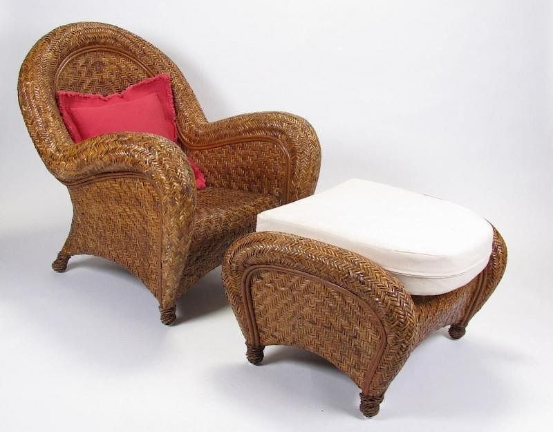 Malabar Arm Chair And Footstool, Pottery Barn By Wickliff Auctioneers    Bidsquare