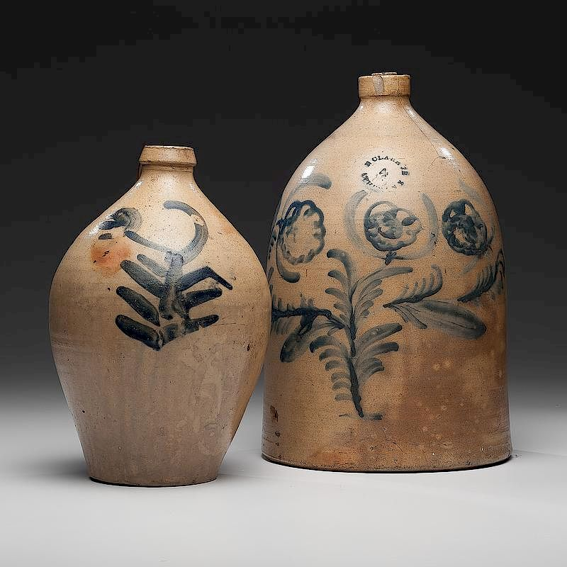 Nathan Clark Jr  and Other Stoneware Jug by Cowan's Auctions