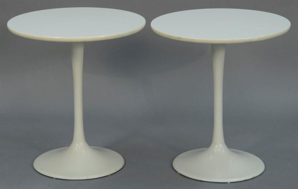 Pair Of Eero Saarinen Knoll Style Tulip End Tables. Height 19 3/4 Inches,  Diameter 18 Inches By Nadeauu0027s Auction Gallery | Bidsquare