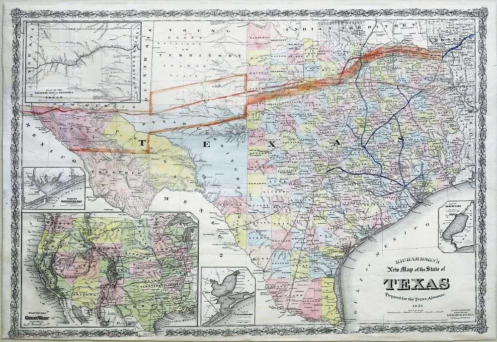 New Map Of Texas.Richardson S New Map Of Texas By Arader Galleries 748048 Bidsquare