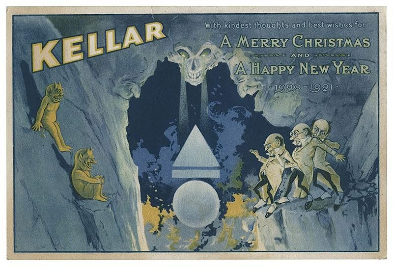 kellar harry heinrich keller merry christmas and happy new year postcard by potter potter auctions bidsquare