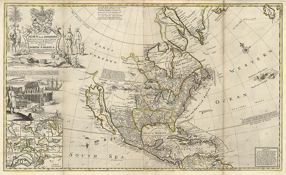 Moll\'s grand large scale map of North America by The Old ...