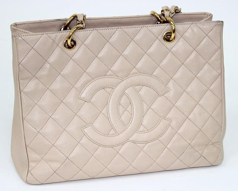 0cc22040aeba Chanel GST Beige Shopping Tote Bag by Joshua Kodner - 831921 | Bidsquare