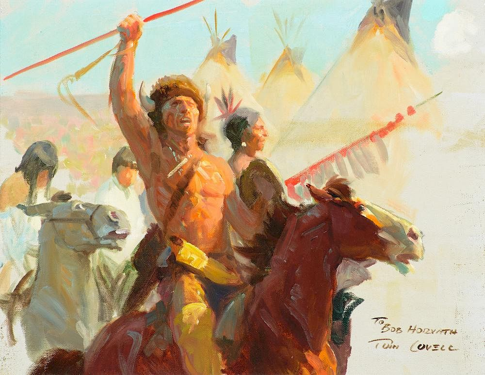 Tom Lovell 1909 1997 Comanche Moon By The Coeur D Alene Art Auction 832112 Bidsquare