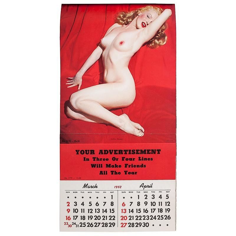 Famed Marilyn Monroe 1952 Calendar In Very Rare Salesman Sample Book