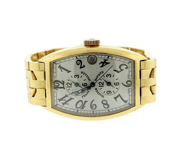 reputable site d480a 95053 Franck Muller 18k Gold Master Banker Watch 5850MB by Hampton ...