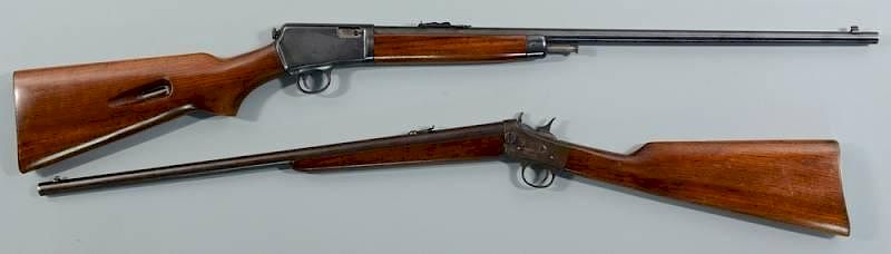 2 Rifles 25 Remington 22 Winchester By Case Antiques Inc Auctions And Appraisals