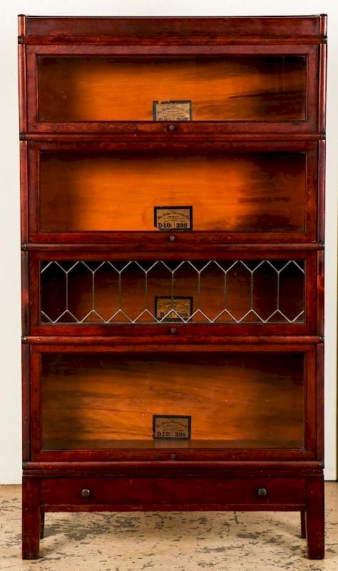 antique glass barrister cabinet by material culture bidsquare rh bidsquare com barrister cabinet hardware barrister file cabinet
