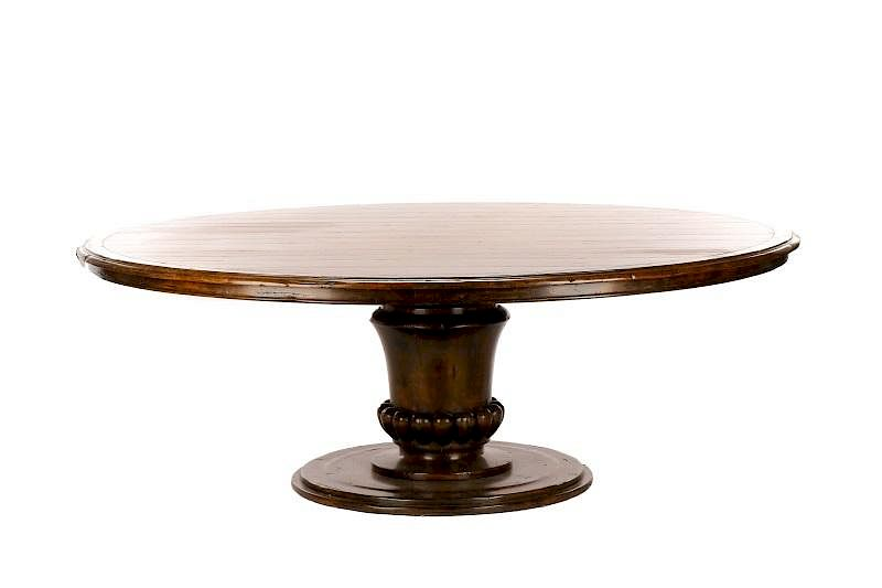 Guy Chaddock French Country Style Oak Dining Table By Ahlers U0026 Ogletree |  Bidsquare