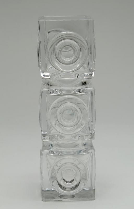 Royal Krona Crystal Vase Swedish Modern By Showplace Antique