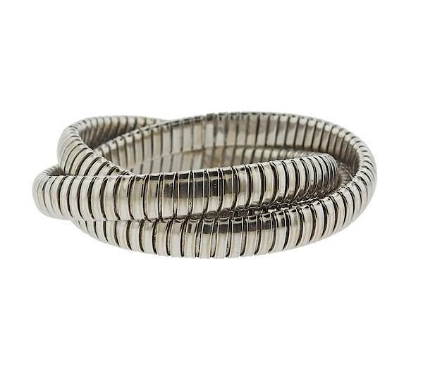 Sidney Garber 18k White Gold Rolling Bracelet By Hampton Estate