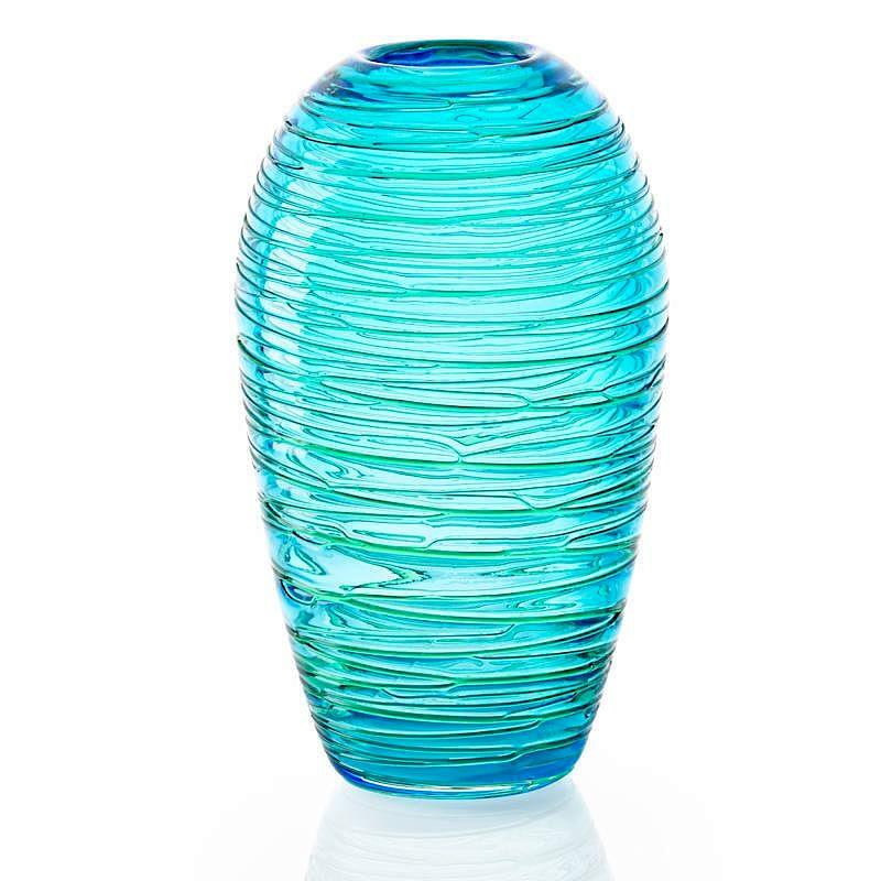 Fulvio Bianconi Venini Threaded Glass Vase By Rago Bidsquare