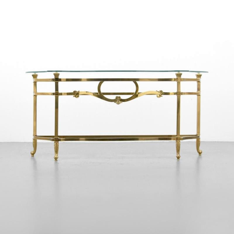 Console Sofa Table Attributed To Mastercraft By Palm Beach Modern Auctions Bidsquare
