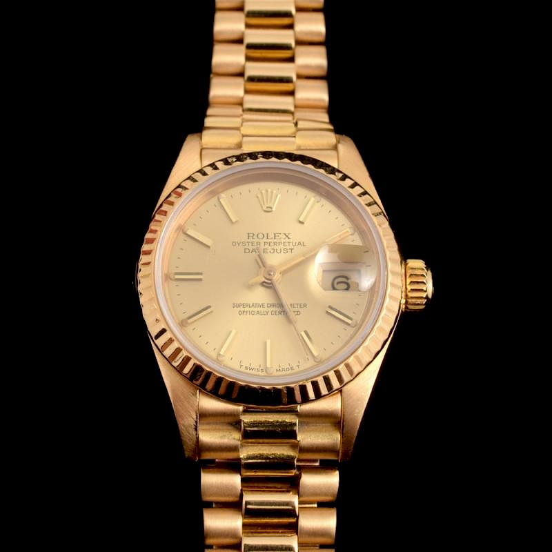 Rolex 18k Yellow Gold Las Presidential Watch By Palm Beach Modern Auctions Bidsquare