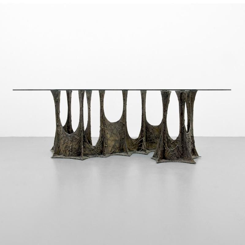 Large Paul Evans STALAGMITE Dining Table By Palm Beach Modern Auctions |  Bidsquare