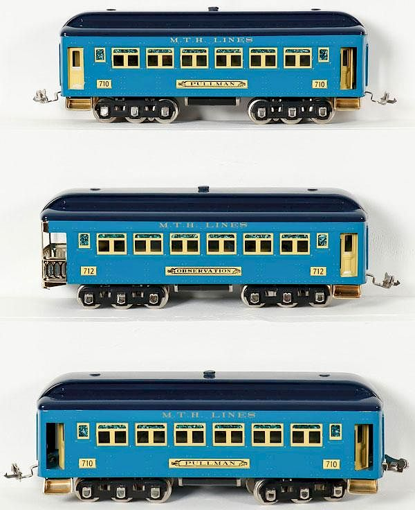 LIONEL MTH O GAUGE PASSENGER SET, LATE 20TH C by Jackson's