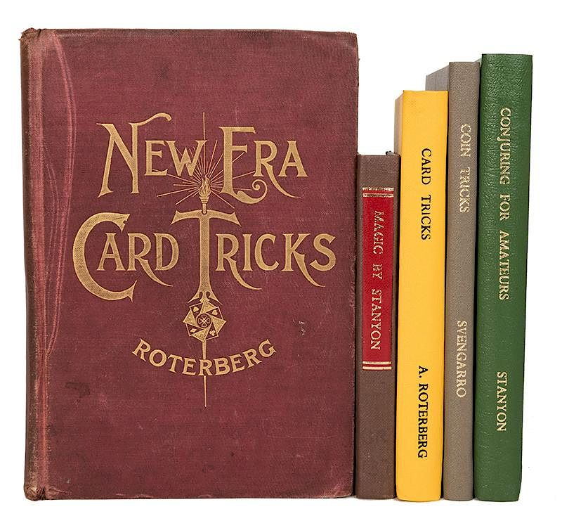 Five Vintage Books on Card Magic and Conjuring  by Potter
