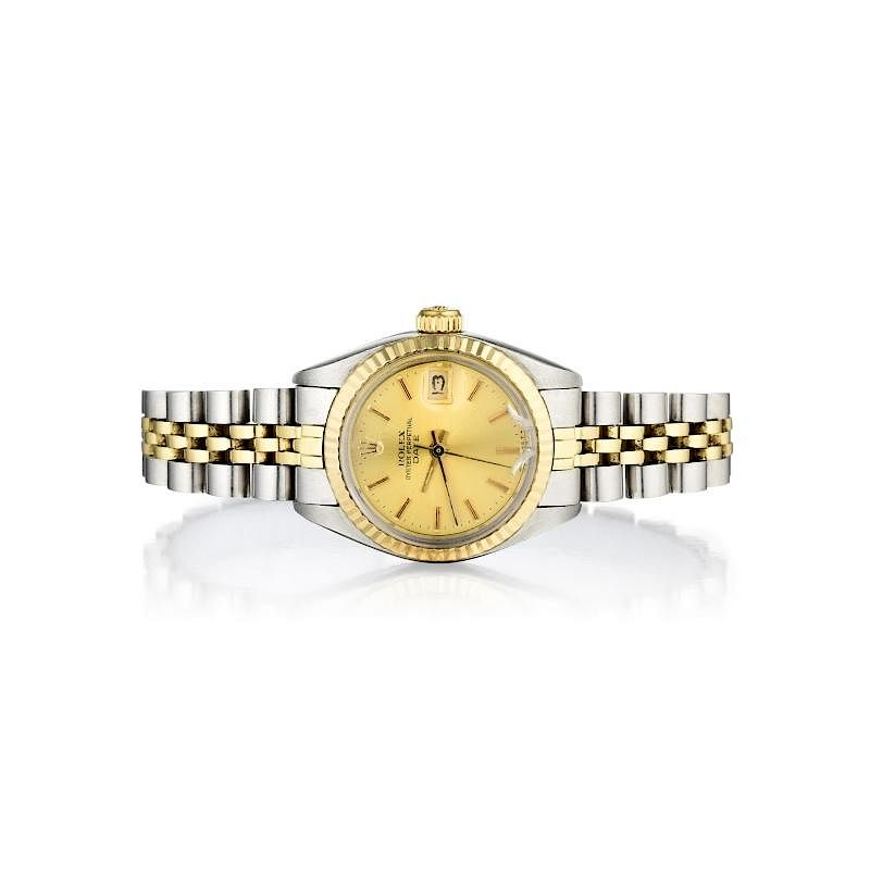 Rolex Ladies Oyster Perpetual Date Just Watch By Fortuna Auction