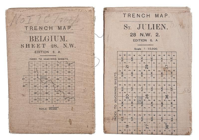 World war one maps wwi trench maps belgium and france lot of 2 world war one maps wwi trench maps belgium and france lot of 2 by cowans auctions inc bidsquare gumiabroncs Gallery
