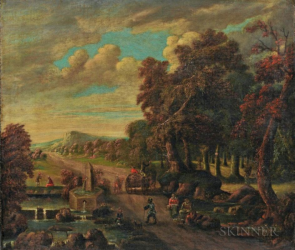Flemish School, 17th/18th Century Dutch Landscape by Skinner