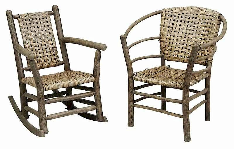 - Two Vintage Old Hickory Chairs By Brunk Auctions Bidsquare