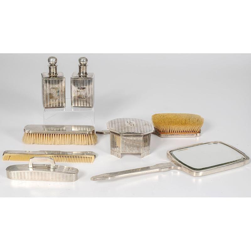 sale retailer 49e82 b8f87 Sterling Silver Dresser Set, Eight Pieces by Cowan's ...