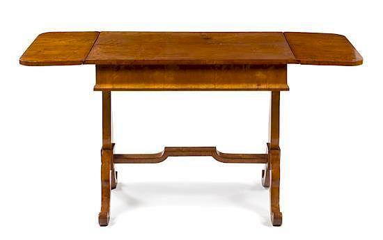 An Austrian Birch Sofa Table Height 30 1 2 X Width 37 X Depth 24 1 2