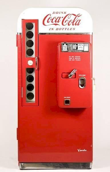 Vendo Coca Cola Machine Model H81 D by Ahlers & Ogletree