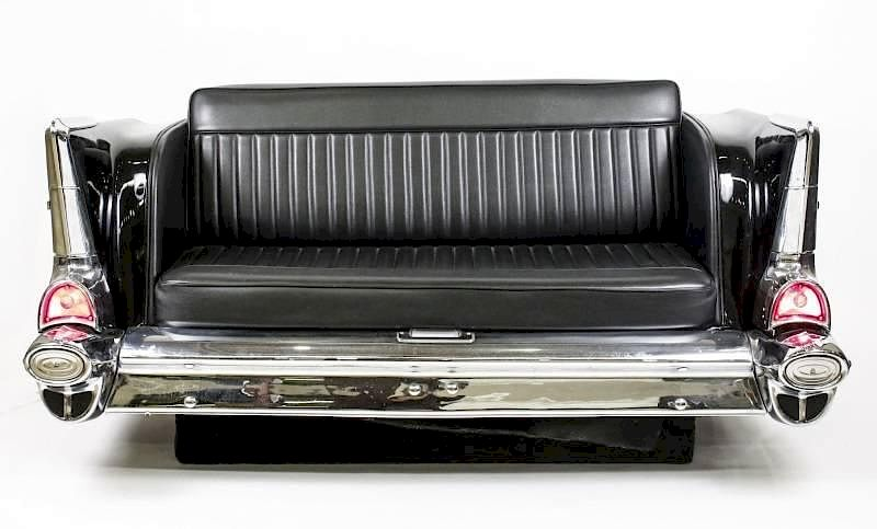 Vintage \'57 Chevy Bel Air Back End Sofa or Couch