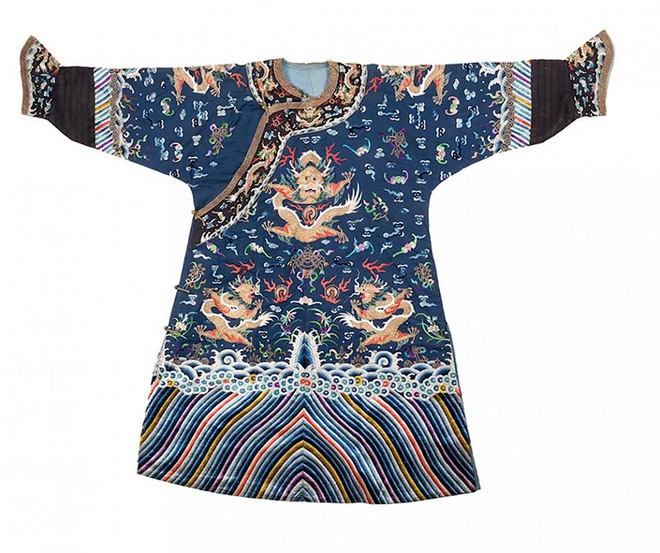 8c5747f2f3e0b Chinese Imperial Blue Dragon Robe. by Potter & Potter Auctions ...