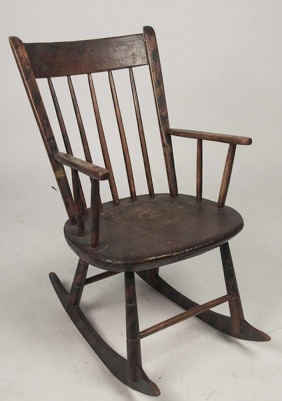 - Antique Windsor Rocker By Witherell's Bidsquare