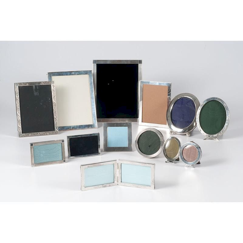 American Sterling Picture Frames Including Tiffany By Cowans